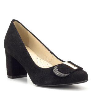 Luca Cavialli fekete bőr magassarkú cipő - Női alkalmi cipők