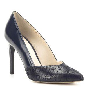Magas sarkú kék Anis körömcipő - Alkalmi cipő - Magassarkú - Körömcipő