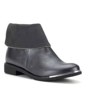 Korda bőr bokacsizma, kérgén cipzáros - Bokacipők - Bokacsizmák