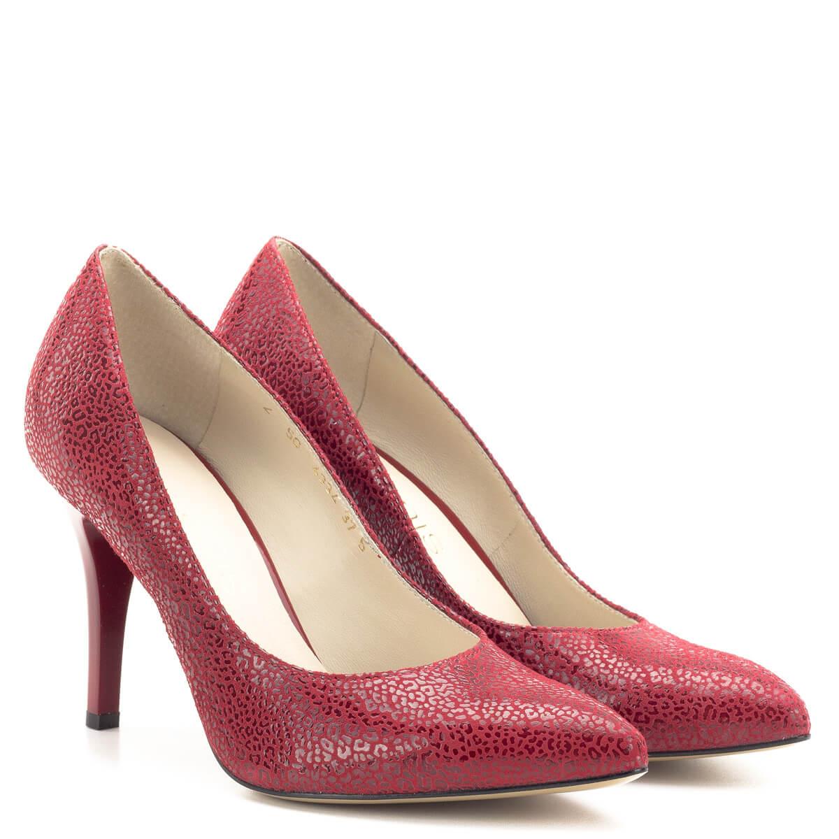 Anis alkalmi cipő piros színben 9 cm magas sarokkal f6eba4d1d7