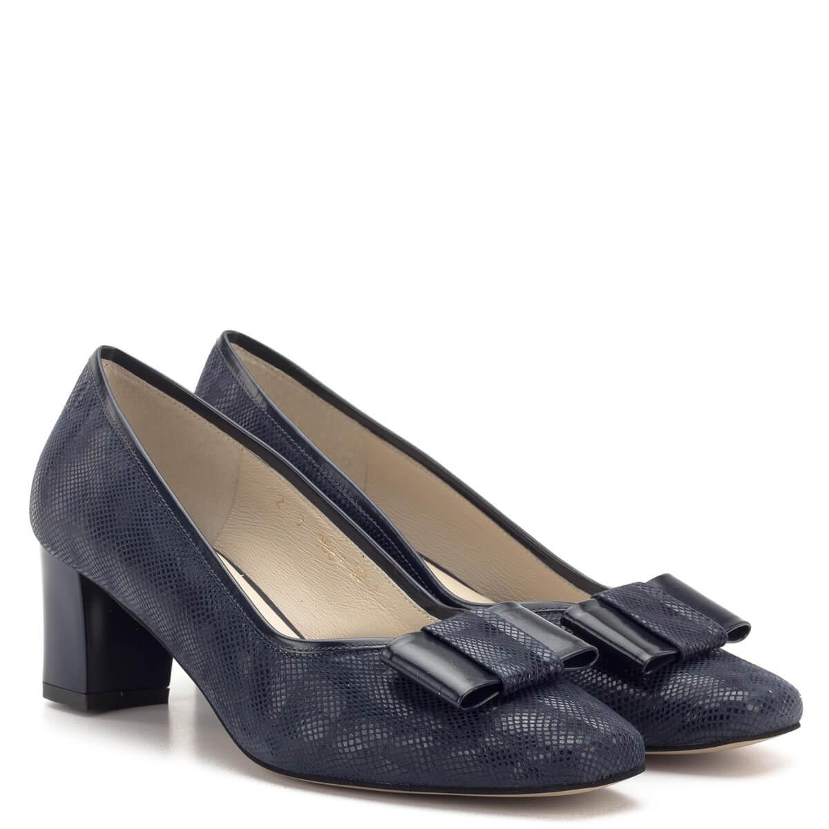 Sötétkék Anis bőr cipő