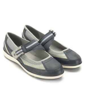 Pántos Jana cipő lapos talppal, H szélességben. Nagyon kényelmes, a pánt bősége tépőzárral állítható, valamint a cipő belső oldalán gumi betétet is tartalmaz. A cipő kiváló minőségű, a Jana Soft Line kollekció darabja. - Jana 8-24663-22 848
