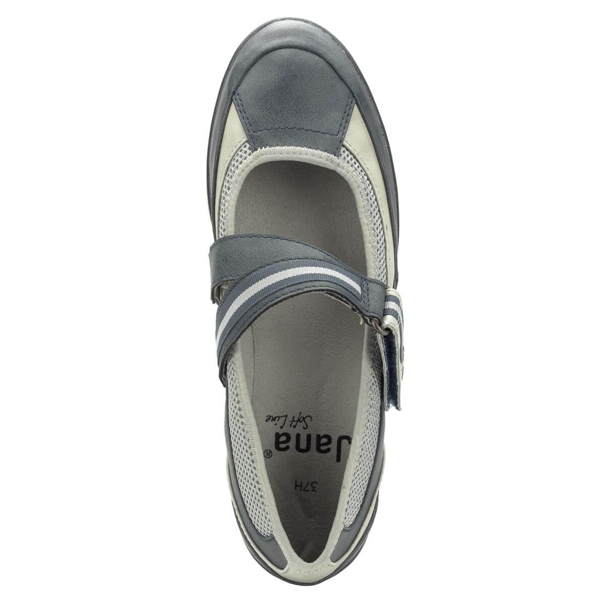 dacee82879 ... Pántos Jana cipő lapos talppal, H szélességben. Nagyon kényelmes, a  pánt bősége tépőzárral ...