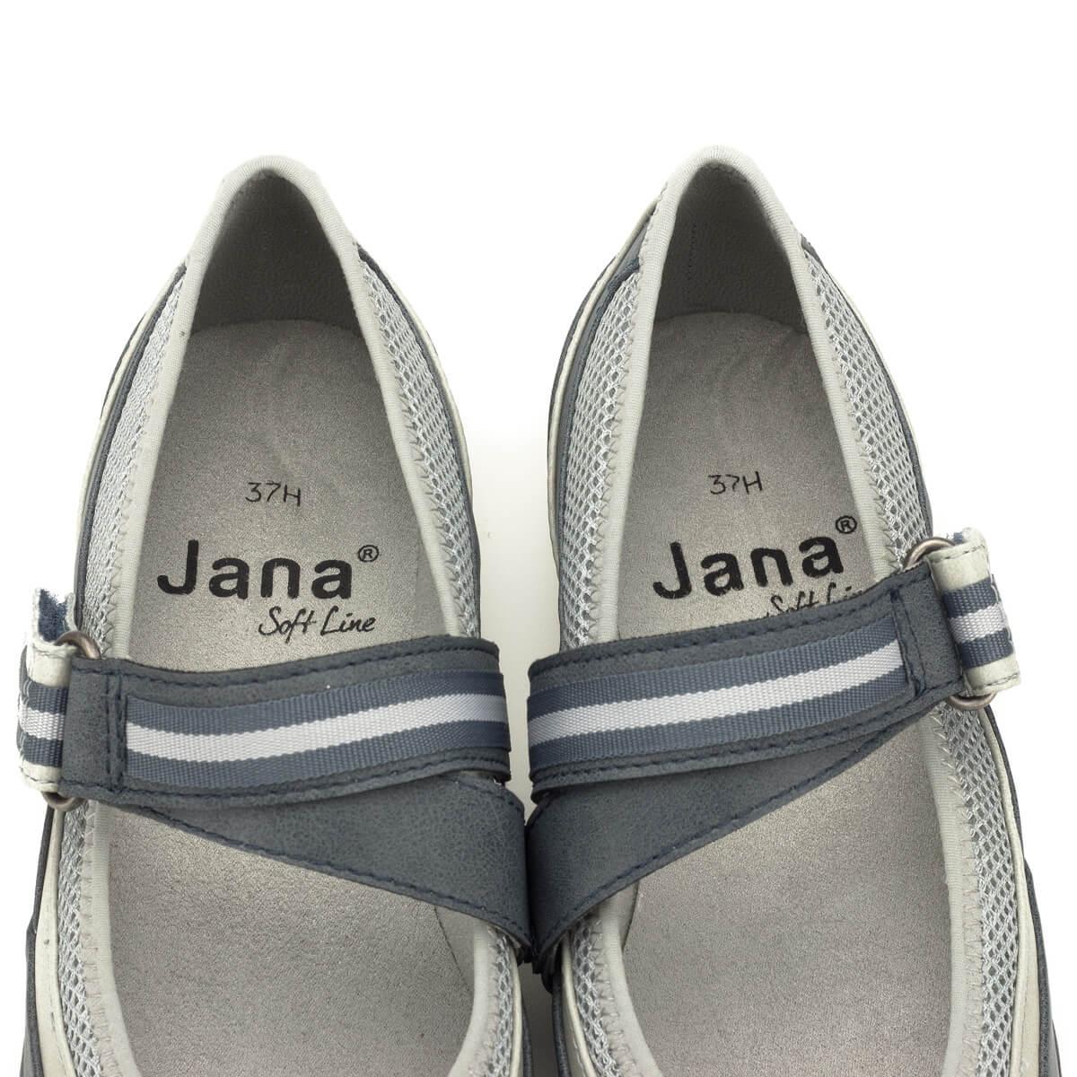 10adbc6c44 ... Pántos Jana cipő lapos talppal, H szélességben. Nagyon kényelmes, a  pánt bősége tépőzárral