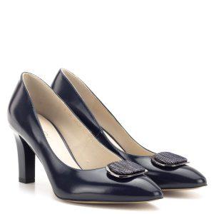 Sötétkék Anis magas sarkú cipő Márka: Anis Szín: Kék Sarok magassága: 7,5 cm A talp vastagsága: - Anyag: Bőr Modellszám: 4624 BLUE TOS 350 7