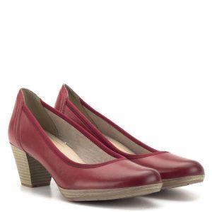 Marco Tozzi cipő piros színben, kényelméről a Feel Me memóriahabos talpbetét gondoskodik. A klasszikus Marco Tozzi pumps a hétköznapokra tökéletes választás. A kerek orrforma biztosítja a láb kényelmes elhelyezkedését, az AntiShokk sarok a könnyed járásért felel - Marco Tozzi 2-22420-32 533