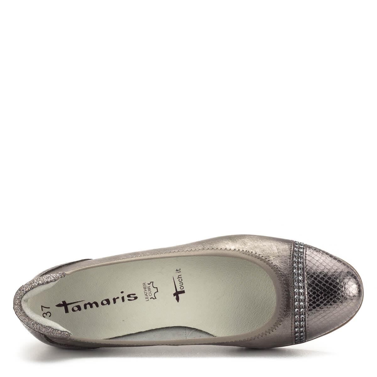Tamaris cipő bronz színben, Tamaris balerina Tamaris 1
