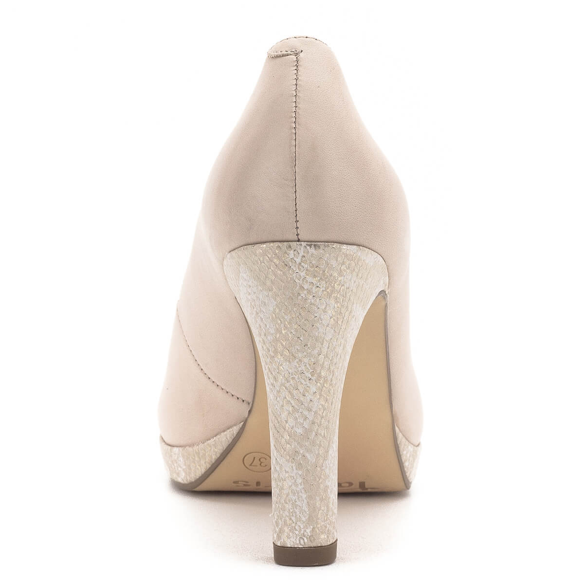 af7442a2e045 ... Magas sarkú Tamaris cipő púder rózsaszín színben. Tamaris Touch It  talpbéléssel készült, a 2 ...