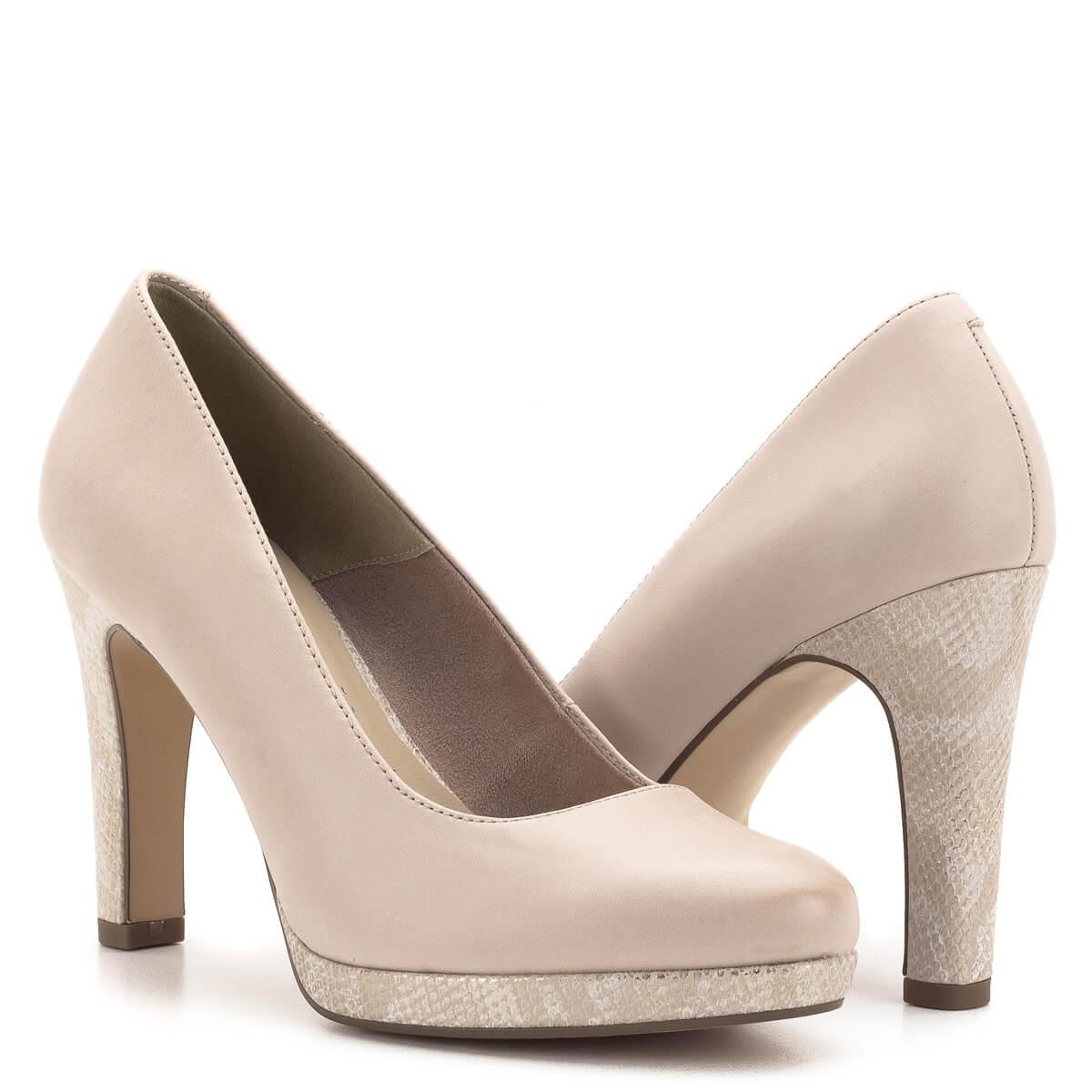 992a4b47804c ... Magas sarkú Tamaris cipő púder rózsaszín színben. Tamaris Touch It  talpbéléssel készült, a 2 ...