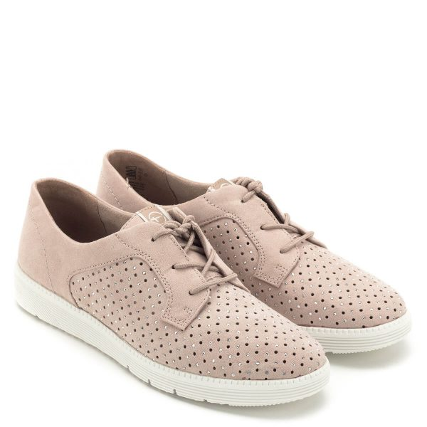 Könnyű, szellős, fűzős Tamaris cipő pillekönnyű talppal és memóriahabos talpbéléssel. Fiatalos, divatos fazon, annyira könnyű, hogy szinte nem is érezni, hogy a lábon van. Tavasszal és nyáron is kiváló viselet, a legtöbb ruhához jól társítható - Tamaris 1-23604-22 521