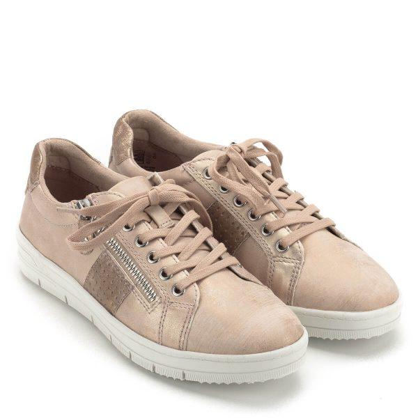 Fűzős Tamaris cipő rózsaszín színben f34dc4ce70