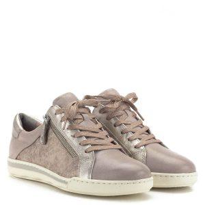 Rózsaszín Tamaris cipő memóriahabos Tamaris Touch It talpbéléssel. Csillogós részeket tartalmaz, oldala mintás. A cipő külső részén cipzár segíti a fel- és levételt - Tamaris 1-23619-22 548