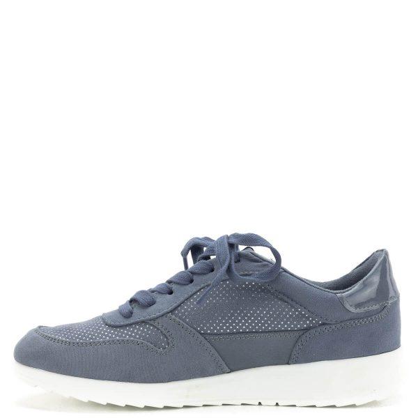 Tamaris cipő könnyű szellős felsőrésszel, kék színben. A cipő talpbetétje kivehető, cserélhető, talpa nagyon könnyű gumitalp. A legtöbb ruhadarabhoz passzoló, kényelmes fűzős cipő a hétköznapokra a Tamaris új kollekciójából - Tamaris 1-23625-22 853