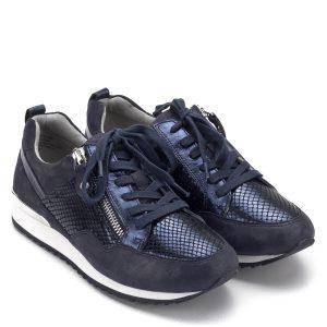 Caprice cipő - Caprice sneakers cipő kék színben, külső oldalán cipzárral, sarkán ezüst betét található. Kényelmes bőr cipő bőr béléssel - Caprice 9-23600-22 880