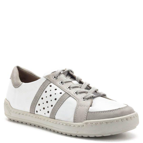 Caprice cipő bőrből, bőr béléssel, natúr színben. A fűzős cipő talpa varrott, talpbélése kivehető. Kényelmes gumi talppal készült, szellős, lyukacsos felsőrésze tavasszal és nyáron is tökéletes hétköznapi viseletté teszi - Caprice 9-23651-22 197