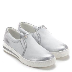 58d31ca18c Carla Ricci cipő fehér-ezüst színben, vastag gumi talppal. Kényelmes zárt  női cipő