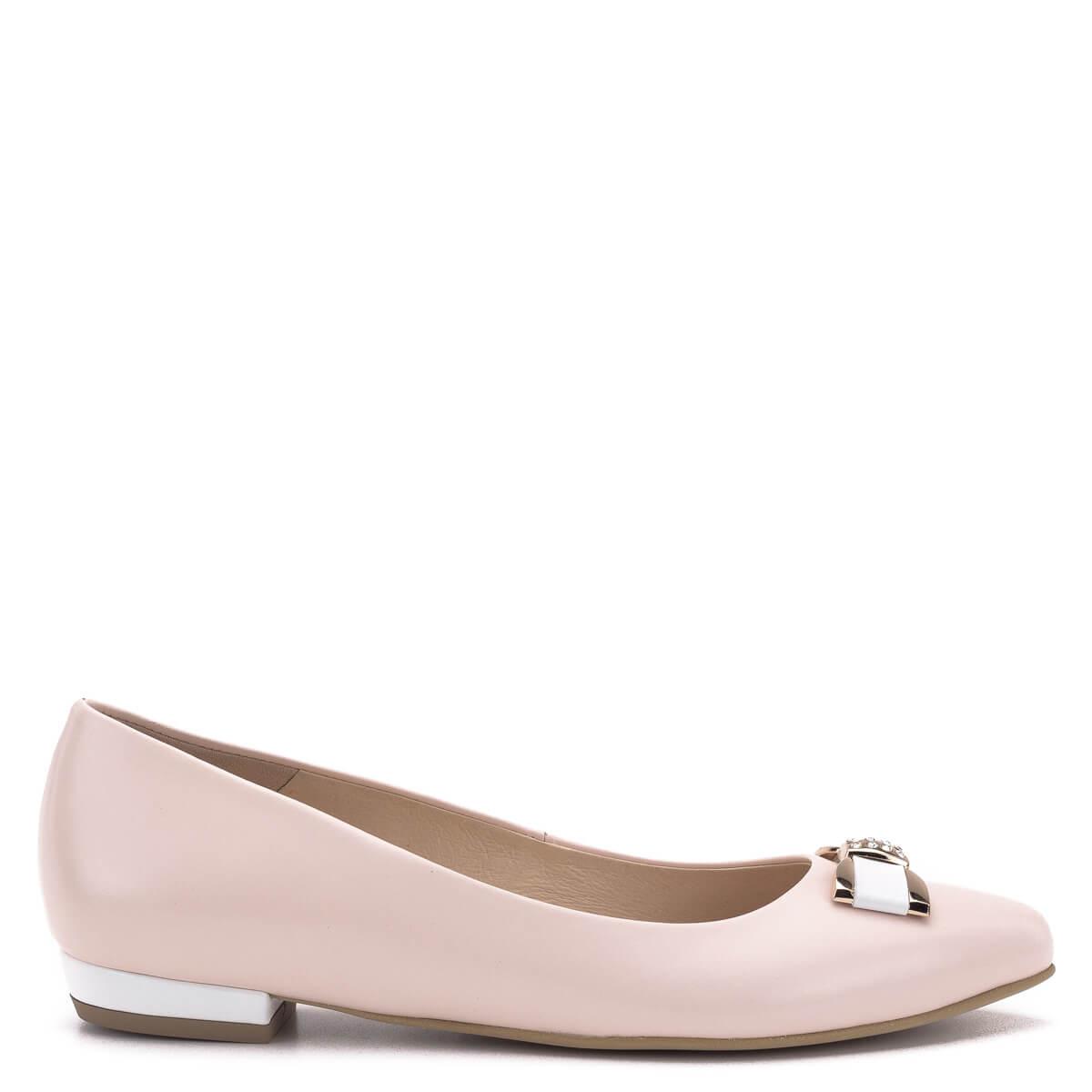 Carla Ricci cipő - Rózsaszín lapos női cipő masni dísszel - Balerina ... 336f841558