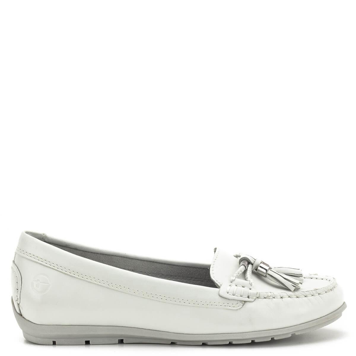 Tamaris cipő - Fehér színű Tamaris mokaszin - Tamaris 1-24602-22 117 b56b928f1a