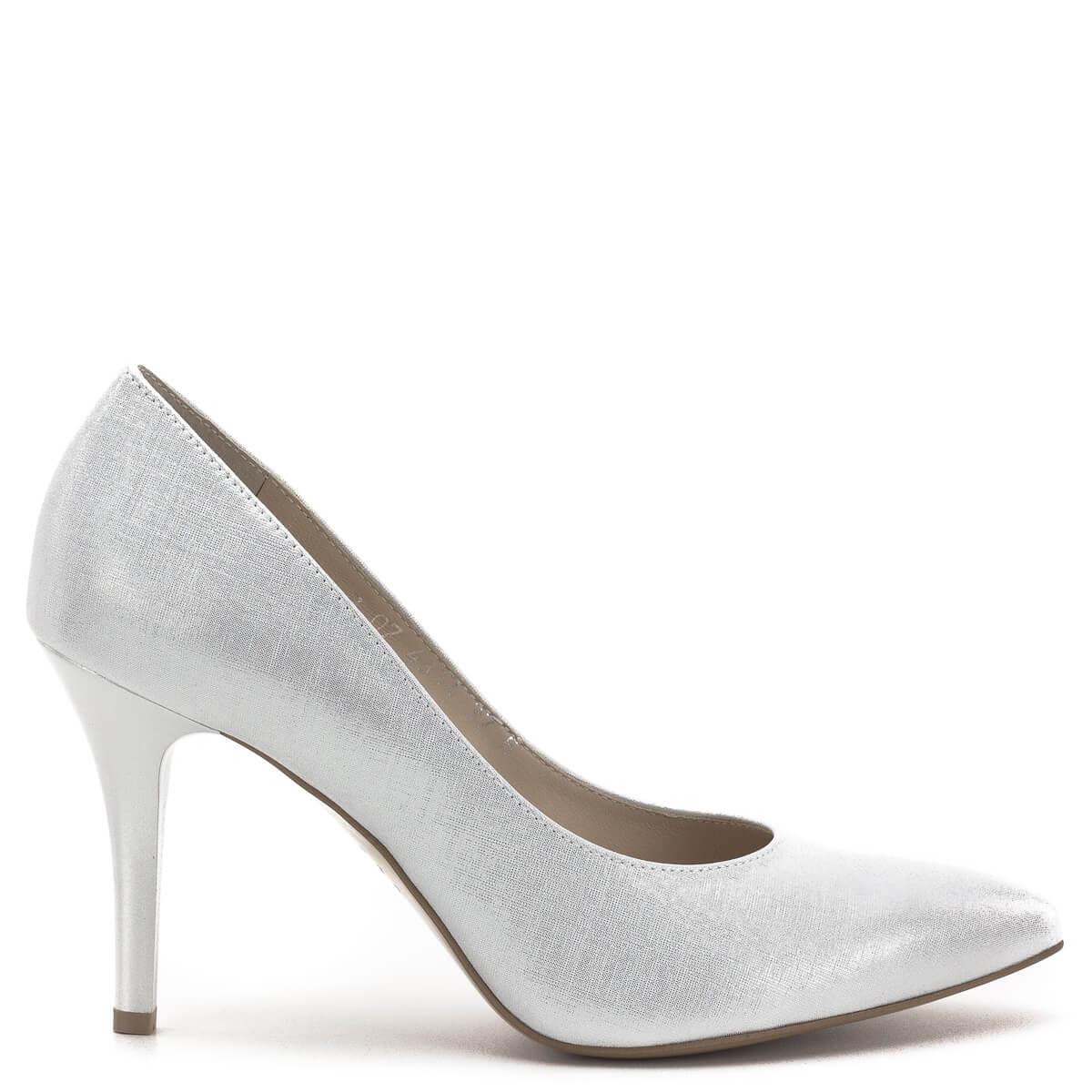 f0308eb3f1 ... Anis cipő ezüst színben, 9 centis sarokkal. Gyönyörű alkalmi cipő,  klasszikus, hegyes ...