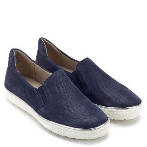 16d8f77653 Caprice cipő fehér gumi talppal, kék színű, strukturált mintázatú bőr  felsőrésszel, bőr béléssel