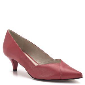 Anis cipő hegyes orral, vidám korall színben. 4,5 centis sarokkal. A cipő bőrből készült, bőr béléssel. A törpe tűsarkú cipő elegáns viselet azoknak, akik nem szeretnék, ha partnerüknél magasabbak lennének, vagy egyszerűen nem bírják a magas sarkú cipőket. - Anis cipő - Anis 3656 KORAL SK