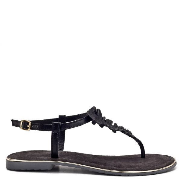 """Tamaris szandál fekete színben, puha Touch It talpbéléssel, pántja csattal szabályozható. Fiatalos, divatos """"lábujjas"""" szandál a Tamaris 2019-es nyári kollekciójából. - Tamaris 1-28143-22 001"""