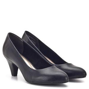 34df4d6a5320 Tamaris cipő 6 centis sarokkal, fekete színben. Puha párnázott talpbéléssel  készült, sarka stabil