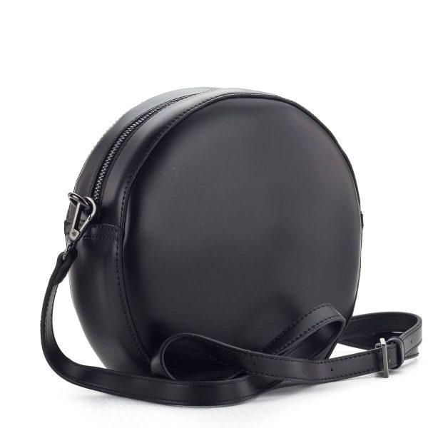 Fekete női divattáska, kör alakú - NOBO