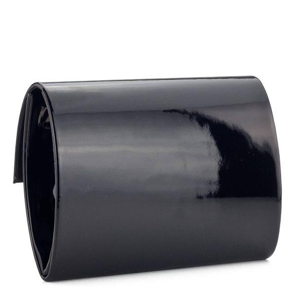 Fekete lakk alkalmi táska