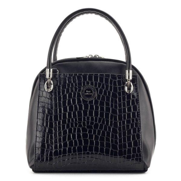 Fekete Prestige táska piton mintával - kézitáska