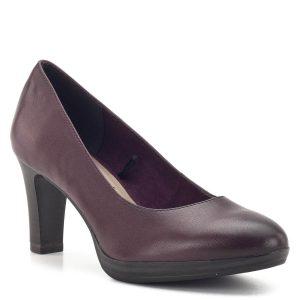 Bordó Tamaris cipő 7,5 cm magas sarokkal. ANTIshokk sarokmegoldása kíméletes a gerinchez, puha memóriahabos TouchIt talpbélése pedig még tovább növeli a komfortérzetet. A bordó cipő számos ruhadarabhoz kiválóan párosítható, színével kiemelkedik a szürke hétköznapokból - Tamaris 1-22410-23 549