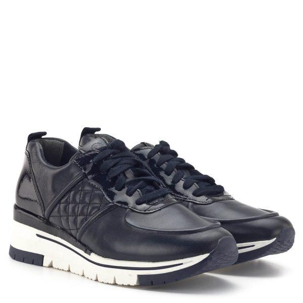 Kedvező árak Online | Tamaris PureRelax Sneakers! | Tamaris sneaker sötétkék színben, fehér gumi talppal. fekete színben. Enyhén emelt sarokrésze és PureRelax talpbélése a kényelem záloga. Tamaris 1-23719-33 805