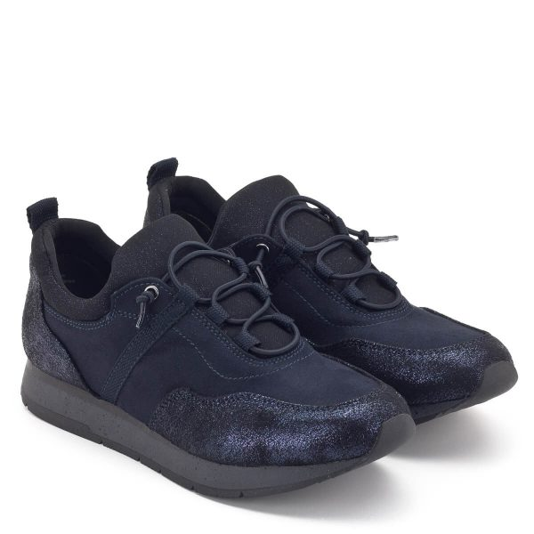 Kék Tamaris sneaker puha Touch It talpbéléssel. Fűzője gumiból készült. Nagyon kényelmes, fiatalos fazon - Tamaris 1-23602-22 515