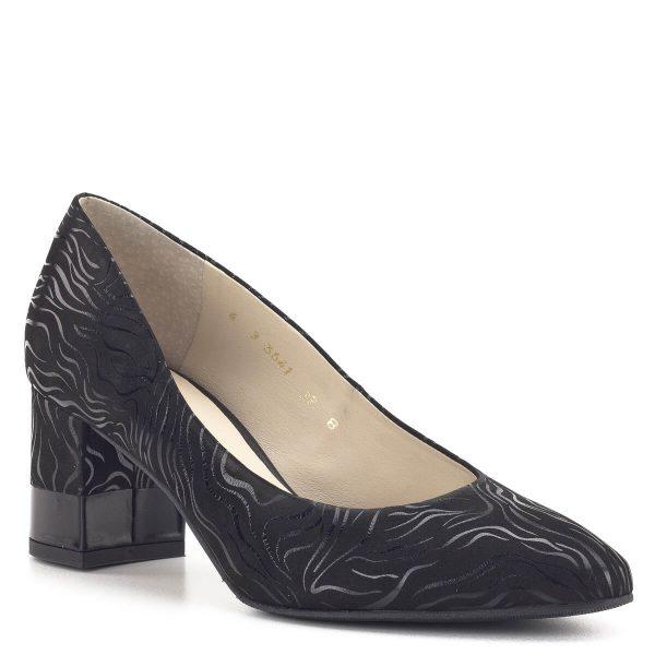 Anis cipő fekete színben, 6 cm magas sarokkal
