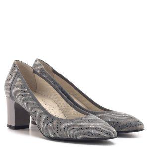 Anis cipő 6 centis sarokkal, szürke színben. Elegáns alkalmi cipő