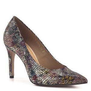 Színes Anis bőr cipő 9 cm magas sarokkal, bőr béléssel