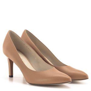 Magas sarkú Anis cipő narancsos hatású barna színben
