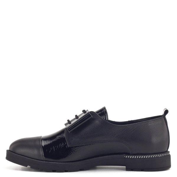 Anna Viotti fűzős női bőr cipő fekete színben