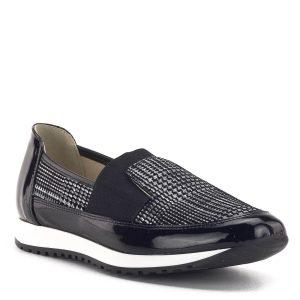 Carla Ricci cipő mintás bőrből, fekete színben
