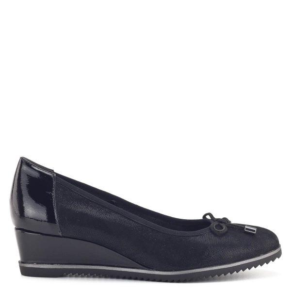 Fekete telitalpú Tamaris cipő