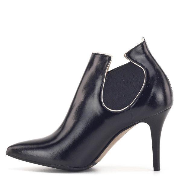 Anis alkalmi bokacsizma 9 cm-es sarokkal, fekete színben