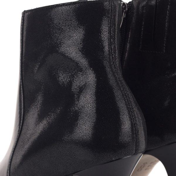 Fekete alkalmi bokacsizma magasított szárral, 9 cm-es sarokkal - Anis