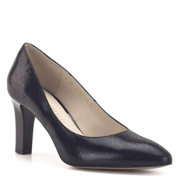 Anis cipő 7,5 cm magas sarokkal, fekete színben