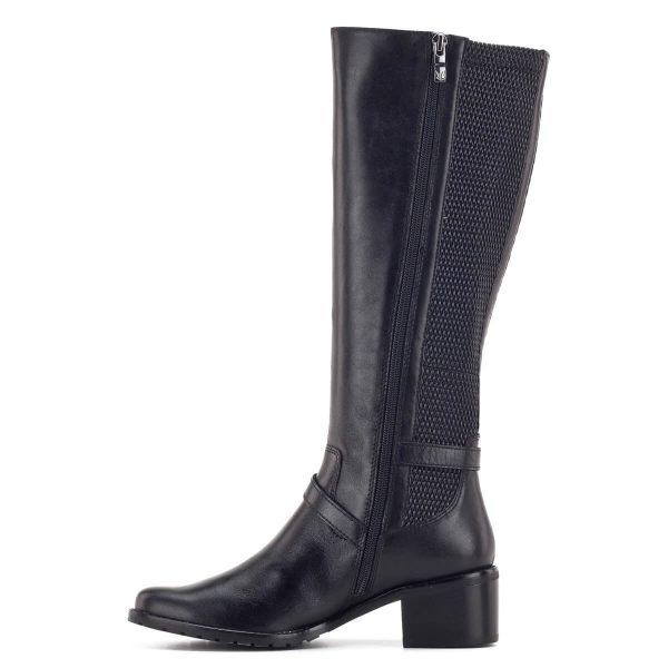 Caprice csizma, elasztikus betéttel, fekete szín - Caprice 9-25515-23 022