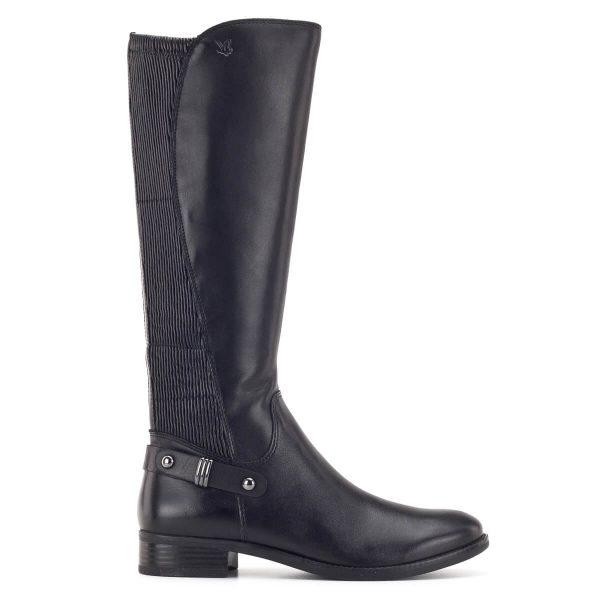 Fekete Caprice bőr csizma elasztikus betéttel - Caprice 9-25521-23 019