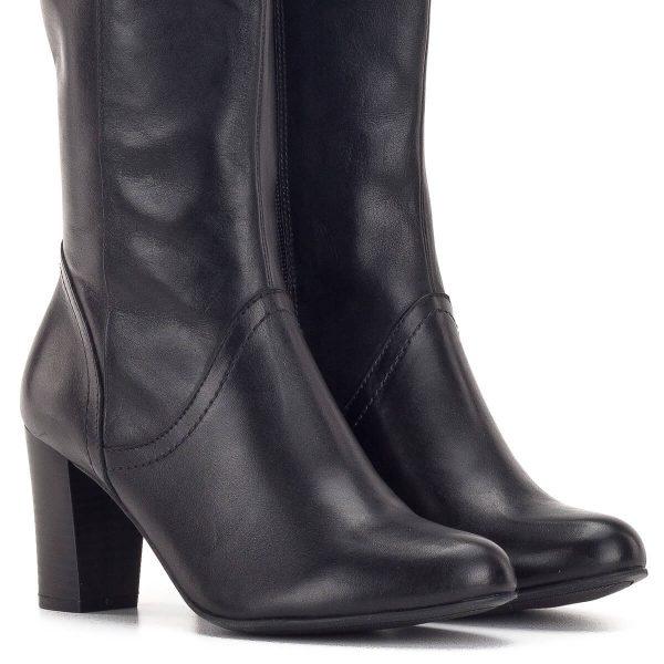 Fekete Caprice csizma 7,5 cm-es sarokkal