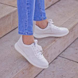 Tamaris fűzős sportcipő fehér színben - Tamaris 1-23625-24 100 10