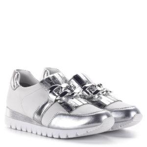 Caprice belebújós női sportcipő, fehér-ezüst színben - Caprice 9-23700-24 930 1