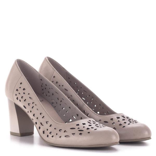 Vágott mintás Jana magassarkú cipő, rózsaszín - Jana 8-22491-24 521 1