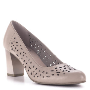 Vágott mintás Jana magassarkú cipő, rózsaszín - Jana 8-22491-24 521 2
